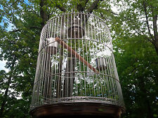 Stainless Steel Round Bird Cage 12' up to 16' Canary Cockatoo EASY CLEAN