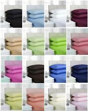 Plain Dyed Polycotton Fitted Valance Sheet - Single, Double, King, Super King