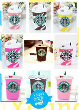 For iPhone Samsung 3D Starbucks Coffe Cup Silicone Rubber Cute Phone Case Cover