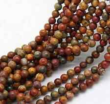 Cute Lots Natural Picasso Round Loose Spacer Beads Stone Finding 4-12mm New
