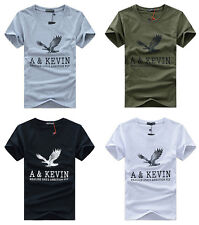 New Mens Casual shirts Slim Fit o-neck/crew neck T-shirt Short Sleeve Muscle TT
