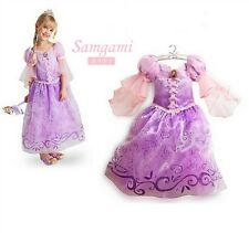 Long Hair Princess Rapunzel Girl Skirt Child Queen Party Costume Fancy, Disney