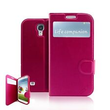 Luxury Slim Flip Window View Leather Gel Pouch Cover Case For Samsung Galaxy S4