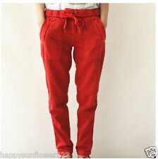 BNWT Country Road washed red tie waist chino Pants Size 4,6,8,10,12,14 rrp $99