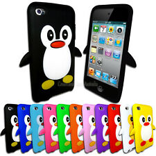 Soft Penguin Case for Apple iPod Touch 4 4th GEN 4G Silicone Rubber Cover