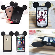 Cute 3D Mouse Ear Frame Silicone Soft Bumper Case For iPhone 4 4s 5 5s 6 6 Plus