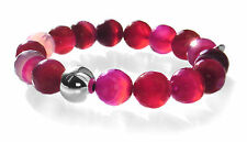 Ladies Gemstone Bead & Sterling Sliver 12mm Bead - Statement Stretch Bracelet