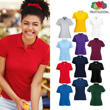 Fruit of the Loom FOTL - Women's Lady-fit 65/35 Pique Polo Shirt Top T-shirt