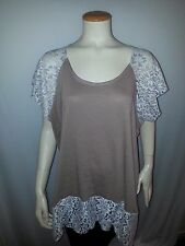 women's top with lace2X, 3X;4X