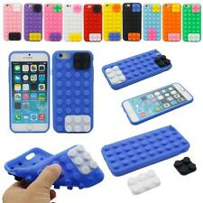 """3D Building Block Soft Silicone Gel Case Cover Skin For Apple iPhone 6 6s 4.7"""""""