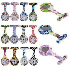 Fashion Silicone Nurse Doctor Stainless Round Dial Brooch Fob Tunic Pocket Watch