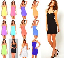 Wholesale Lot 30 Women Stretch Camisole Strap Long Tank Top Mini Dress OS S M L