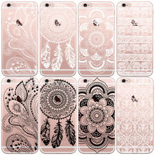 Ultra Thin Fashion Pattern Clear Soft TPU Case Cover For iPhone 4/5/5C/6 Samsung