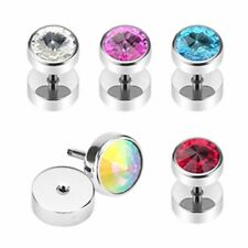 Fake Plug Taper 0 5/16in Crystal 5 Colours NEW PIERCINGS from ALLFORYOU