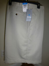 Haggar Cool 18 Plain Front Shorts 32 - 54 NEW White String Black Khaki Bark