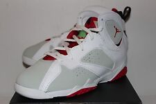 Air Jordan Retro 7 VII Hare White Grey Red Sneakers Boy's PS Size 2.5 3 New