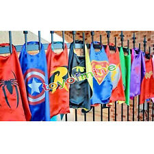 Superhero Cape Superman Batman Spiderman Supergirl Batgirl for kids