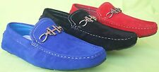 MEN GIOVANNI DRESS LOAFER ITALIAN CASUAL SLIP-ON MEDIUM(D,M)SOLID SUEDE MOCCASIN