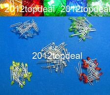 10 100 1000pcs 3mm diode 2pin Round white/red/blue/green/yellow LED lamp light