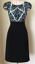 Tahari by ASL Lace Print Bodice Chiffon & Scuba Sheath Dress NWT $128