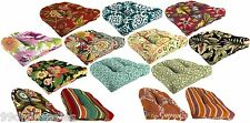 Indoor Outdoor Tufted Wicker Chair Cushion Pad with Hectors, Multiple Patterns