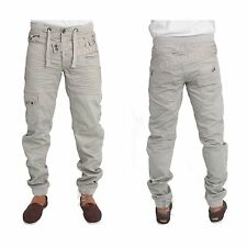 MENS CUFFED JEANS NEW IN STONE COLOUR CUFFED JOGGER JEANS SALE PRICE