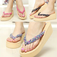 Lady Braided Women Fashion Sandals Beach EVA Flip Flops Slippers Shoes New 65