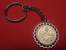 Lucky Sixpence Pendant Keyring Any Year £3.29 Free P&P Birthday Or Year Gift