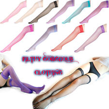 Candy Colours Thigh High Lace Top Fishnet Stockings SAME DAY POSTAGE