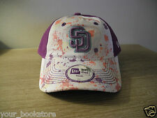 New San Diego Padres MLB Youth Hat Embroidered New Era Purple White Pink cap lid