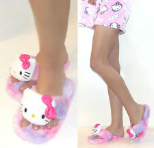 NWT Sanrio Hello Kitty Fluffy Thong Slippers For Women  5/6,7/8,9/10 Pink/Purple