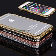 New Crystal Rhinestone Diamond Bling Metal Case Cover Bumper For iPhone 6 Plus