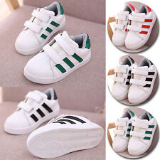 Boy Girl Chirldren Kid Fashion Sneakers Sprot Casual Shoes New Velcro PU