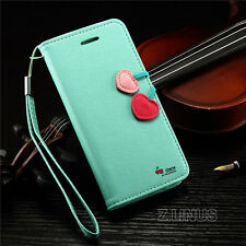 New Cherry Leather Flip Stand Wallet Card Case Cover For Apple iPhone Models