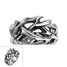 Men's Fancy 316 Stainless Steel Black Silver Claw Retro Punk Ring Gothic Jewelry