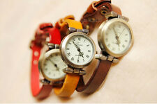 New Classic Vintage Simple Women Ladies Girls Leather Strap Watch