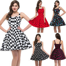 FREE P&P New Ladies Colorful 50s Victorian Sleeveless Rockabilly Evening Dresses
