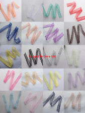 Free shipping 10 yards Unilateral embroidery lace ribbon 23 colors to choose