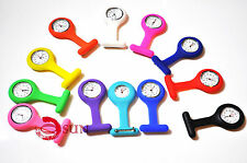 Silicone Nurse Brooch Tunic Fob Watch Nursing Nurses Pocket Watch 12 COLORS