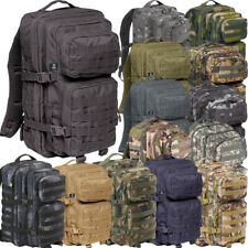 US ASSAULT PACK RUCKSACK MEDIUM 30L & LARGE 50L ARMEE OUTDOOR TASCHE BW 5-FARBEN