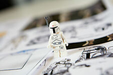 LEGO STAR WARS - EXCLUSIVE WHITE BOBA FETT FIGURE +GIFT - RARE - BESTPRICE - NEW