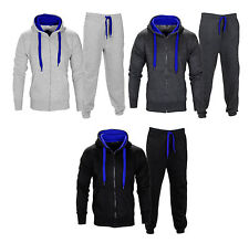 New Men's Luxury Fleece Zip up Full Tracksuit Jogging Bottom Hoodie Suit