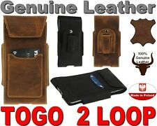 TOGO L&C GENUINE LEATHER HOLSTER WITH BELT CLIP POUCH CASE AND CARD POCKET