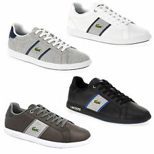Lacoste Men's Graduate Evo Leather & Canvas Trainers Black, Brown, White & Grey