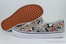 VANS CLASSIC SLIP-ON DISNEY CLASSIC MICKEY MOUSE FROST GRAY/BLACK/RED KIDS YOUTH