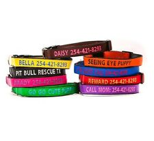 Personalized Embroidered Dog Collar Extra Durable Extra Tough GO GO CUTE PUPPY