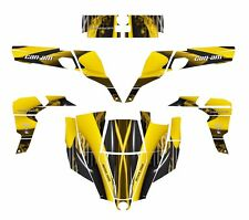 Can am Commander graphics wrap kit for 800 1000 R XT #3333 Yellow