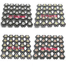 10-100pcs 1W 3W High Power red green Blue Royal blue LED bead with 20mm star pcb