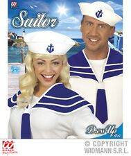 Fancy Dress Instant Retro Sailor Navy Collar Hat Pin Up 50's Set Popeye Kit