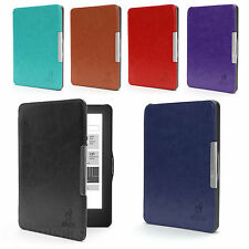 ULTRA THIN HARD SMART LEATHER CASE COVER WITH WAKE/SLEEP SUPPORT FOR KOBO GLO HD